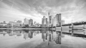 View of Frankfurt city skyline stock images