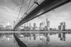 View of Frankfurt city skyline stock photography