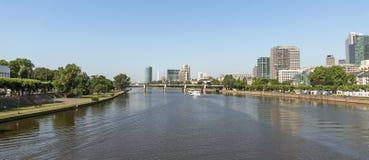 View of Frankfurt am Main, Germany Royalty Free Stock Photos