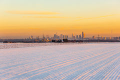 View of Frankfurt am main in late afternoon Stock Photos