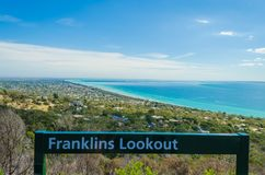 View from Franklins Lookout, Arthurs Seat. Stunning view of Port Phillip Bay from Franklins Lookout , Arthurs Seat, Mornington Peninsula, Victoria,Australia Stock Photography