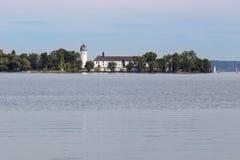 View of Frauenchiemsee island Stock Photo