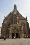 View of Frauenkirche church on Hauptmarkt square in Nuremberg Stock Photos