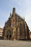 View of Frauenkirche church on Hauptmarkt square in Nuremberg Royalty Free Stock Images
