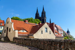View of Frauenkirche, Meissen, Germany Stock Images