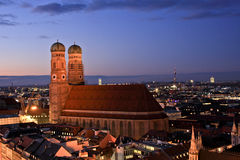 View of Frauenkirche in winter, Munich, Germany Stock Photography