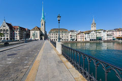View on Fraumunster Church in Zurich Stock Images