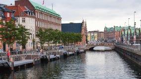 View of Frederiksholms Kanal in Copenhagen Stock Photos