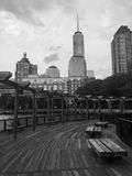 View of Freedom Tower from Battery Park Royalty Free Stock Photos