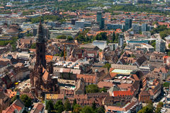 View on the Freiburg cathedral Royalty Free Stock Images