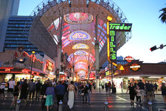 View of the Fremont street Royalty Free Stock Images