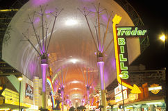 View of Fremont Street at night, Las Vegas, NV Stock Photography