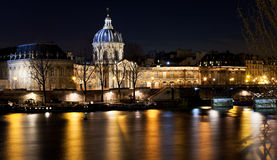 French Academy in Paris at night Stock Photo