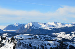 View of French Alps. The view of French Alps on January 2011 Stock Photo
