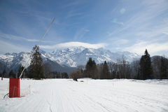 View of the French Alps Royalty Free Stock Photo