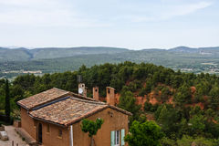 Looking out over Roussillon Stock Images