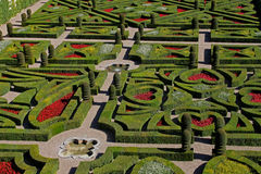 A view  of a French Formal Garden. Stock Photography