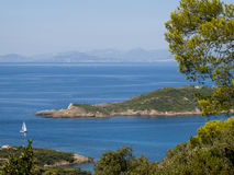 View from the French Port-Cros island Royalty Free Stock Photos