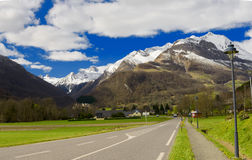 View of the french Pyrenees mountains in spring time Stock Image