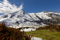 View of the french Pyrenees mountains in spring time Royalty Free Stock Images