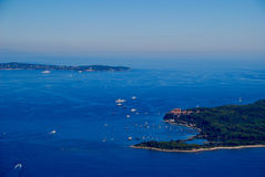 View of the french riviera - Cote d Azur Royalty Free Stock Photography