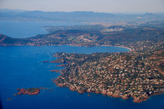 View of the french riviera - Cote d Azur Royalty Free Stock Photos