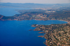 View of the french riviera - Cote d Azur Stock Photography