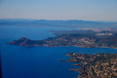 View of the french riviera - Cote d Azur Royalty Free Stock Images