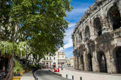 View of French town Nimes Stock Photo
