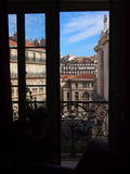 View from French windows Stock Images