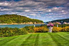View of Frenchman Bay and Bar Island, in Bar Harbor, Maine. Royalty Free Stock Image