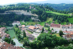 View of Fribourg from above Royalty Free Stock Photography