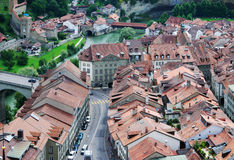 View of Fribourg from above Royalty Free Stock Photos