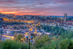 View of Fribourg city, Switzerland, HDR Stock Photo