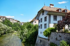 Fribourg town, Switzerland Royalty Free Stock Photo