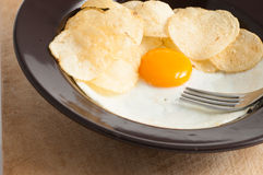 View of a fried egg Royalty Free Stock Image