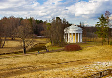 View of the Friendship Temple at the Park of Pavlovsk. In the spring. Saint Petersburg. Russia Royalty Free Stock Images