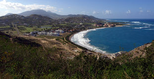 View of Frigate Bay on St. Kitts Royalty Free Stock Photo