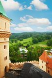 View fro Bojnice castle tower Royalty Free Stock Images