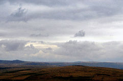 View fro Brentor. Dartmoor Devon, Uk royalty free stock image