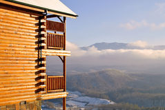 View From A Smoky Mountain Cabin Stock Photography