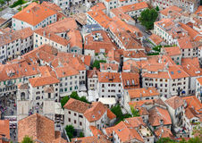 View From Above Of The Old Town, Kotor, Montenegro Stock Photo