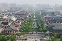 View From Big Wild Goose Pagoda Of Xian Royalty Free Stock Images