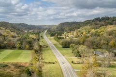 Free View From Double Arch Bridge At Natchez Trace Parkway Royalty Free Stock Photos - 121228008