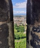 View From Edinburgh Castle Royalty Free Stock Photos