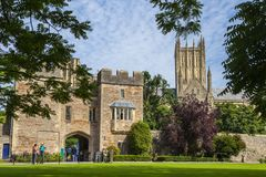 Free View From Inside The Bishops Palace In Wells Royalty Free Stock Images - 138568879
