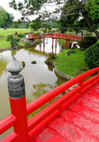 View From Japanese Wooden Bridge Stock Images