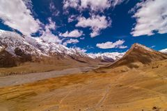 Free View From Kee Monastery - Spiti Valley, Himachal Pradesh, India / The Middle Land / Cold Desert Stock Image - 122330901