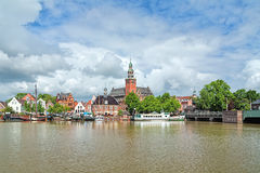 Free View From Leda River On City Hall And Old Weigh House In Leer, G Stock Photo - 81426290