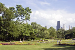 View From Lincoln Park Stock Photo